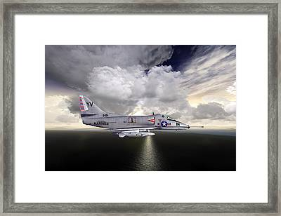 Framed Print featuring the photograph A4c Cap by Mike Ray