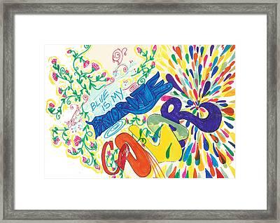 A52_ Le Colour 79 Framed Print