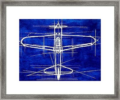A6m Zero Blueprint Framed Print