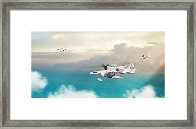 A6m2-n Sea Plane Framed Print