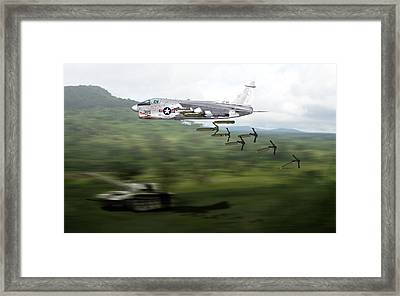 Framed Print featuring the digital art A7 18x28.8 01 by Mike Ray