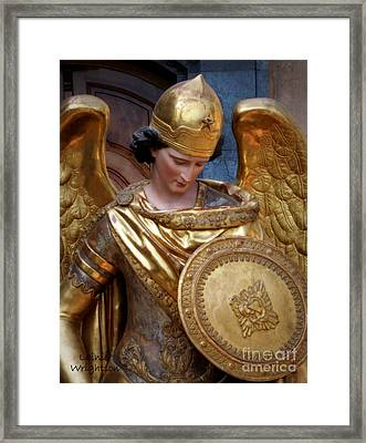 Archangel Michael Framed Print by Lainie Wrightson