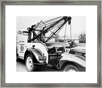 Aaa Tow Truck Framed Print