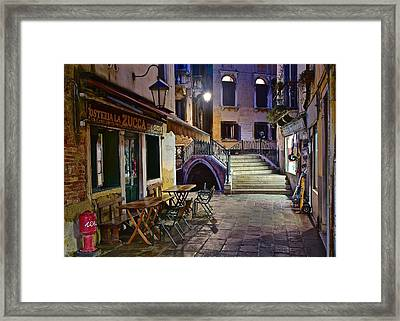 Aahhh Venice Framed Print by Frozen in Time Fine Art Photography