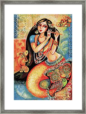 Aanandinii And The Fishes Framed Print by Eva Campbell