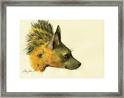 Aardwolf Hyena Animal Art Framed Print