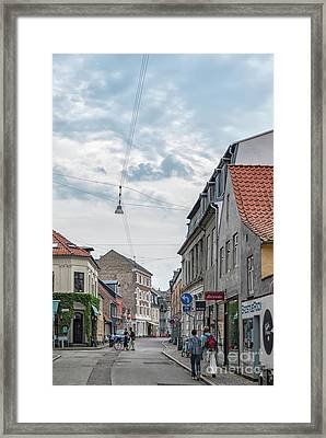 Framed Print featuring the photograph Aarhus Urban Scene by Antony McAulay
