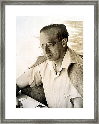 Aaron Copland, At Tangelwood, 1942 Framed Print by Everett