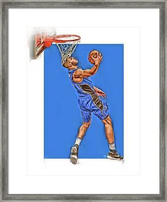 Aaron Gordon Orlando Magic Oil Art Framed Print by Joe Hamilton