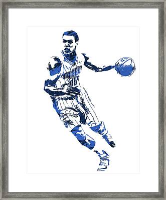 Aaron Gordon Orlando Magic Pixel Art 1 Framed Print