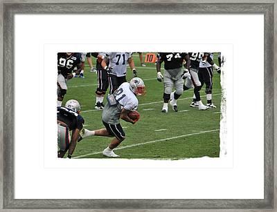 Aaron Hernandez Framed Print by Mike Martin