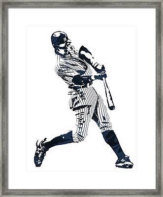 Aaron Judge New York Yankees Pixel Art 1 Framed Print