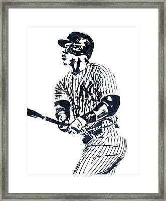 Aaron Judge New York Yankees Pixel Art 11 Framed Print