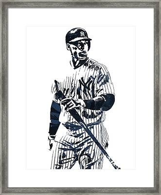 Aaron Judge New York Yankees Pixel Art 12 Framed Print