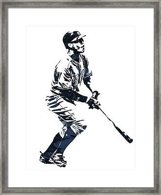 Aaron Judge New York Yankees Pixel Art 13 Framed Print