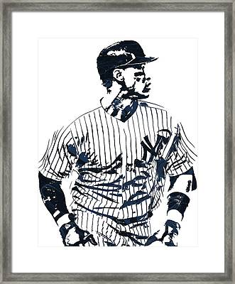 Aaron Judge New York Yankees Pixel Art 2 Framed Print