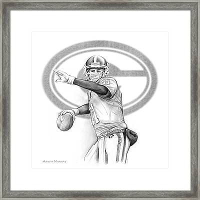 Aaron Murray Framed Print by Greg Joens