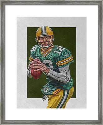 Aaron Rodgers Green Bay Packers Art 5 Framed Print by Joe Hamilton