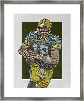 Aaron Rodgers Green Bay Packers Art Framed Print by Joe Hamilton