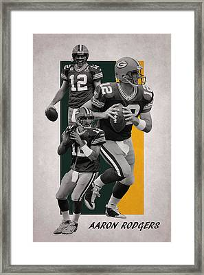 Aaron Rodgers Green Bay Packers Framed Print