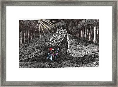 Aaron Saddles Asil Framed Print by Al Goldfarb