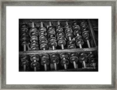 Abacus In Black And White Framed Print by Paul Ward