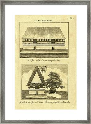 Framed Print featuring the drawing Abai On Palau by Artist Unknown