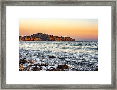 Framed Print featuring the photograph Abalone Point Sunset by Anthony Baatz
