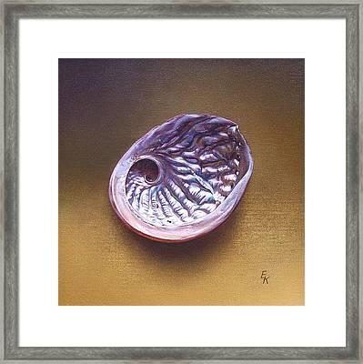 Abalone Shell -  A Framed Print by Elena Kolotusha