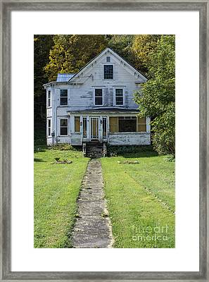 Abandoned Home, Lyndon, Vt. Framed Print