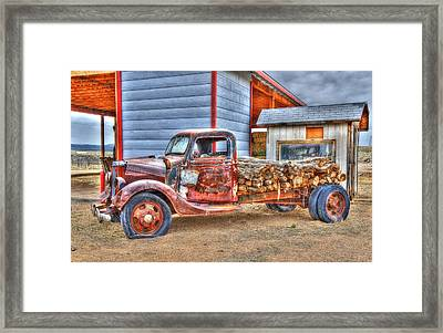 Abandon Truck On Route 66 Framed Print