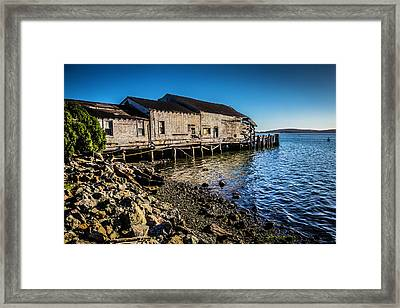 Abandonded Fishing Wharf Framed Print by Garry Gay