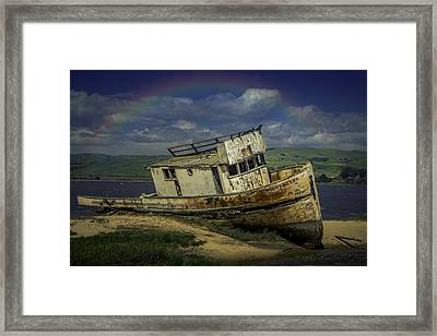Abandonded Old Boat Framed Print by Garry Gay