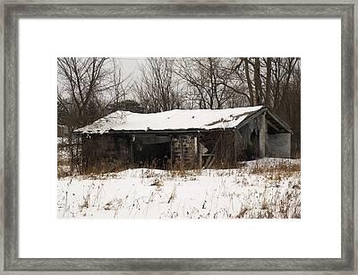 Abandoned And Cold Framed Print by Elaine Mikkelstrup