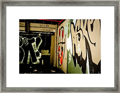 Abandoned And Grunge Framed Print