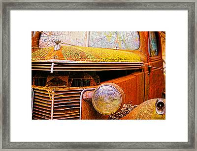 Abandoned Antique Truck 2 Framed Print