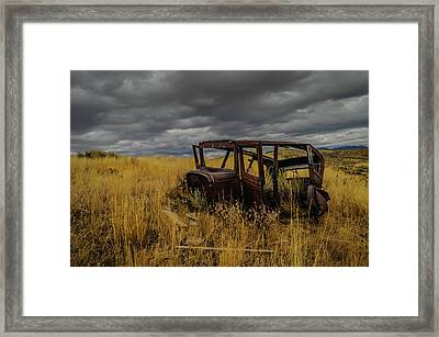 Abandoned Auto Framed Print