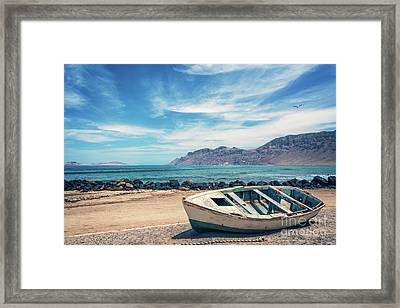 Abandoned Boat Framed Print by Delphimages Photo Creations