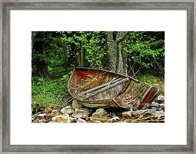 Abandoned Boat Framed Print