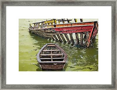 Framed Print featuring the photograph Abandoned Boat by Kim Wilson