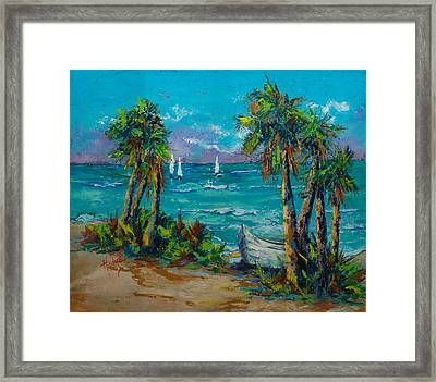 Abandoned Boat Framed Print by Mary DuCharme