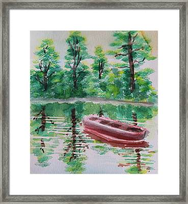 Abandoned Boat Framed Print by Remegio Onia