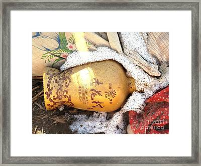 Framed Print featuring the photograph Abandoned Bottle by Ethna Gillespie