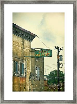 Framed Print featuring the photograph Abandoned Building by Jill Battaglia
