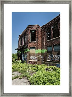 Abandoned Building With Graffiti Framed Print