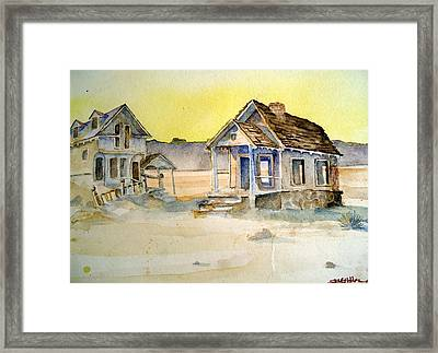 Framed Print featuring the painting Abandoned Buildings by Steven Holder
