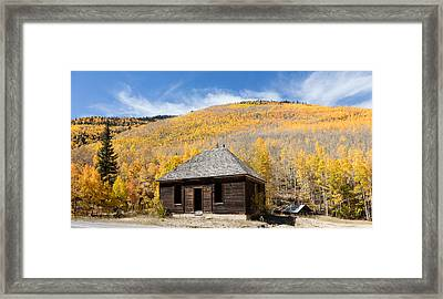 Framed Print featuring the photograph Abandoned Cabin Near The Old Mining Town Of Ironton by Carol M Highsmith