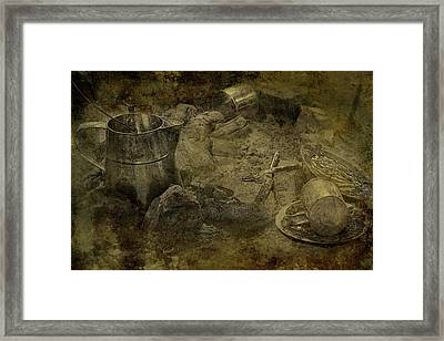 Abandoned Camp - A Scene From The Old West Framed Print by Mitch Spence