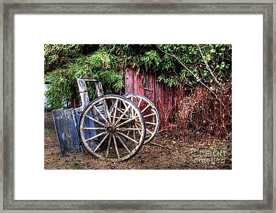 Framed Print featuring the photograph Abandoned Cart by Jim and Emily Bush