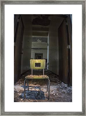 Abandoned Chair In Detroit  Framed Print